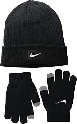 0be46f06ba6 Black Metallic Silver. 16. Nike Kids. Chrome Swoosh Beanie Gloves Set ...
