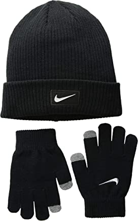 best service 29513 11a81 Chrome Swoosh Beanie Gloves Set (Big Kids). Nike Kids