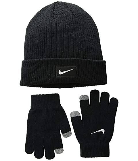 Nike Kids Chrome Swoosh Beanie Gloves Set (Big Kids) at Zappos.com 3a2fbebbf9b