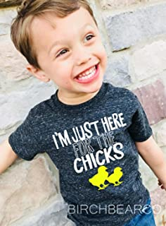 Kids Easter Shirt Im Just Here For The Chicks Kids Unisex T Shirt