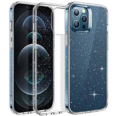 ESR Clear Glitter Case Compatible with iPhone 12 Pro Max [Wireless Charging Ready] [Slim & Clear] Shimmer Series