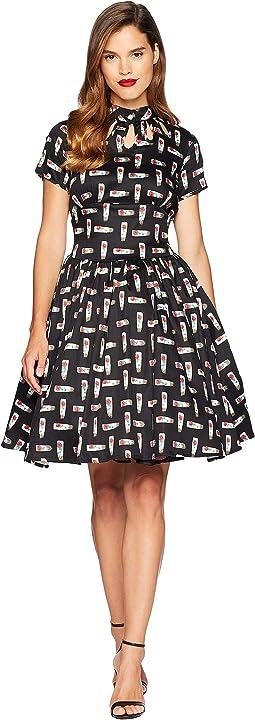 1950s Style Keyhole Lizzie Swing Dress