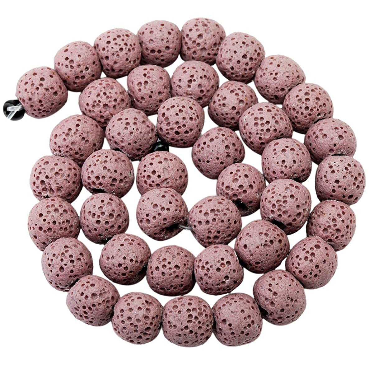 rockcloud 8mm Purple Lava Rock Stone Gemstone Beads Round Loose Beads 14 inch for Jewelry Making Findings Accessories