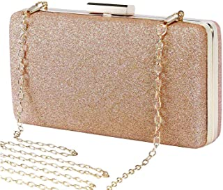 Selighting Women s Glitter Clutches Evening Bags Formal Party Handbags Prom  Wedding Clutch Purse with Chain 236fdd77110a