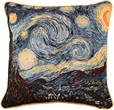 Signare Van Gogh Artist Tapestry Double Sided Square Throw Pillow Cover 18 x 18/ 45cm x 45cm (No Padding) in Starry Night Design