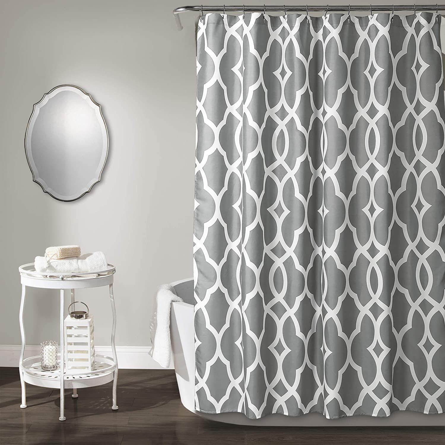 Lush Beauty products Decor Gorgeous Gray Connor Geo x Curtain Shower 72