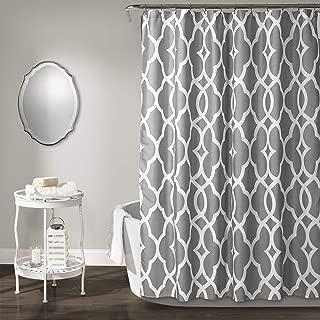 Lush Decor, Gray Connor Geo Shower Curtain, 72