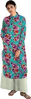 RADANYA Women Floral Patter Full Sleeve Straight Cotton Dresskurti/Kurta