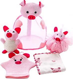 Shower Sponge Animal Bath Loofahs Pouf Wash Ball Puff Bulk Mesh Brush Luffa Body Scrubber for Kids,Toddler,Boys,Girls, Bab...