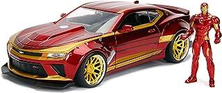 "Jada Toys Marvel Iron Man & 2016 Chevy Camaro Die-cast Car, 1:24 Scale Vehicle & 2.75"" Collectible Metal Figurine"