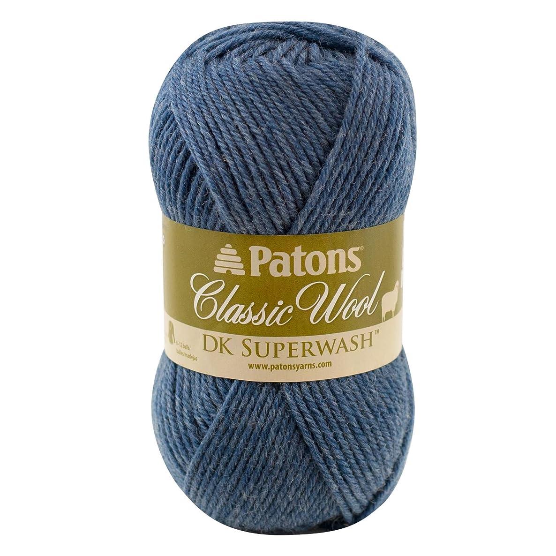Patons  Classic Wool DK Yarn - (3) Light Gauge 100% Wool - 1.75 oz -   Denim  -   For Crochet, Knitting & Crafting