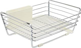 Pearl Life HB-302 Draining Steel Basket Dish Drainer, White