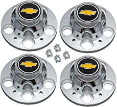 Set of 4 New GM Licensed Chevrolet Chevy C1500 Truck Blazer Suburban 15 inch 5 Lug Rally Wheel Center Caps