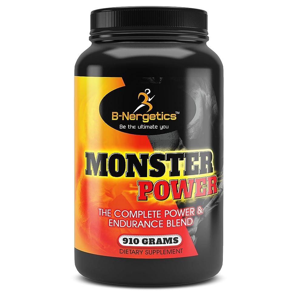 B-Nergetics Monster Power The Complete Power & Endurance Blend 910g, MSM, Glutamine, Creatine, Whey Protein, Creatine, Pre/Intra/Post Workout Formula