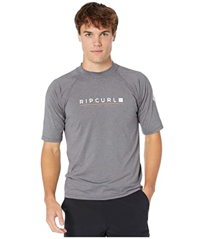 Rip Curl Shockwave Relaxed Short Sleeve UV Tee (Grey) Men