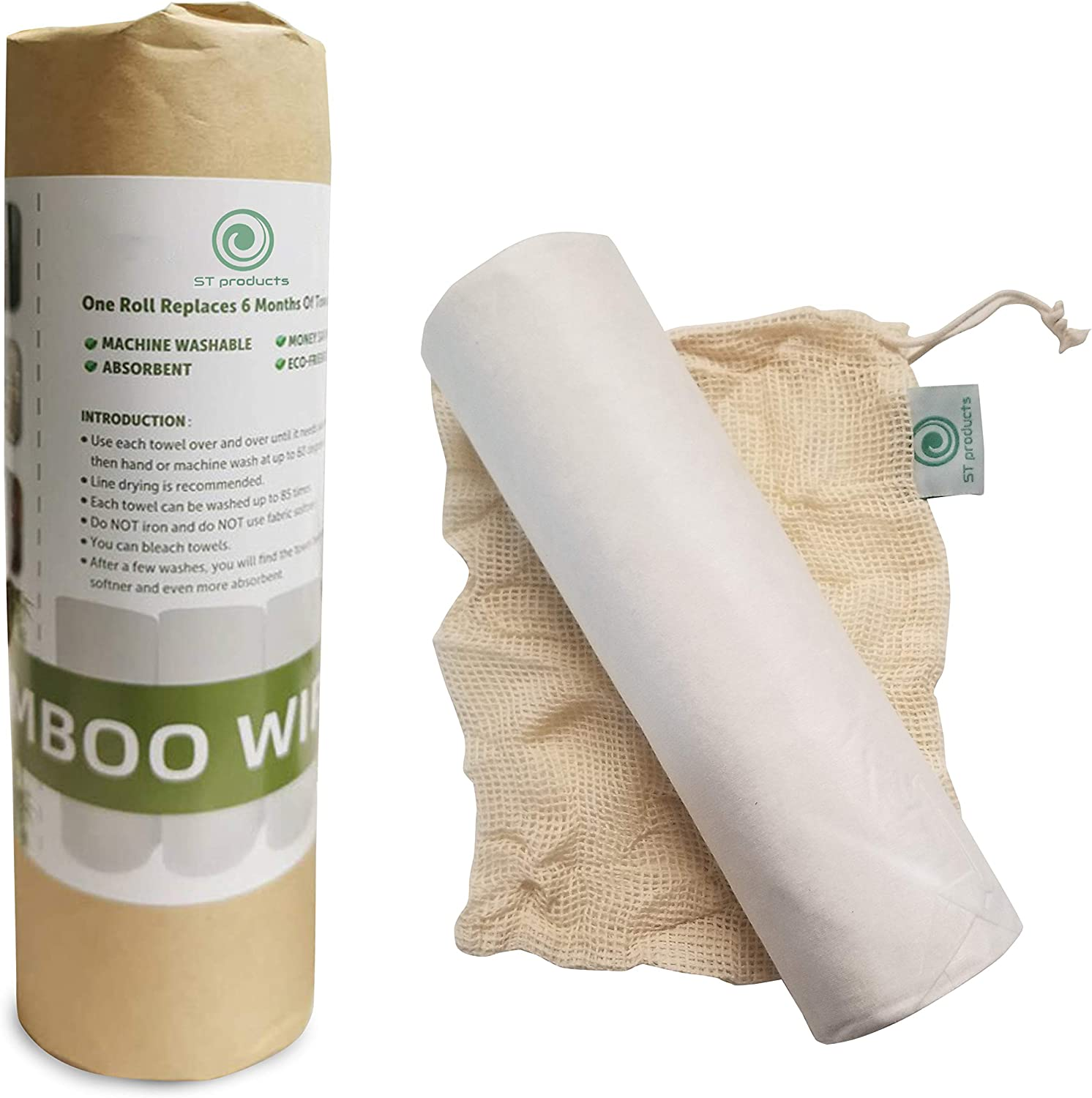 Bamboo Towels Heavy Duty Reusable Washable Industry No. 1 Machine Max 68% OFF Eco-Friendly