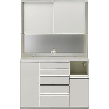 パモウナ 食器棚WG パールホワイト 幅140×高さ214×奥行45 日本製 WGR-S1400R