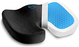 U-Shaped Pro Seat Cushion - 100% Memory Foam & Gel Orthopedic Pillow for Car, Office and Home Chairs - Relieves Coccyx, Ta...