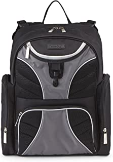 Jeep J is for Jeep Adventurer's Back Pack Diaper Bag with Places and Spaces, Black/Grey/White