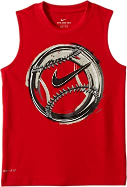 Brush Baseball Dri-FIT Muscle Tee (Little Kids)