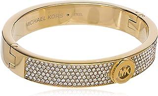 Women's Gold Tone Pave Fulton Hinge Bangle Bracelet...