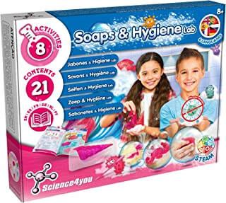 Science4you -Soap and Hygiene Lab - Scientific Games and Toys, 7 Experiments and Educational Book in 5 Tongues, an Ideal G...