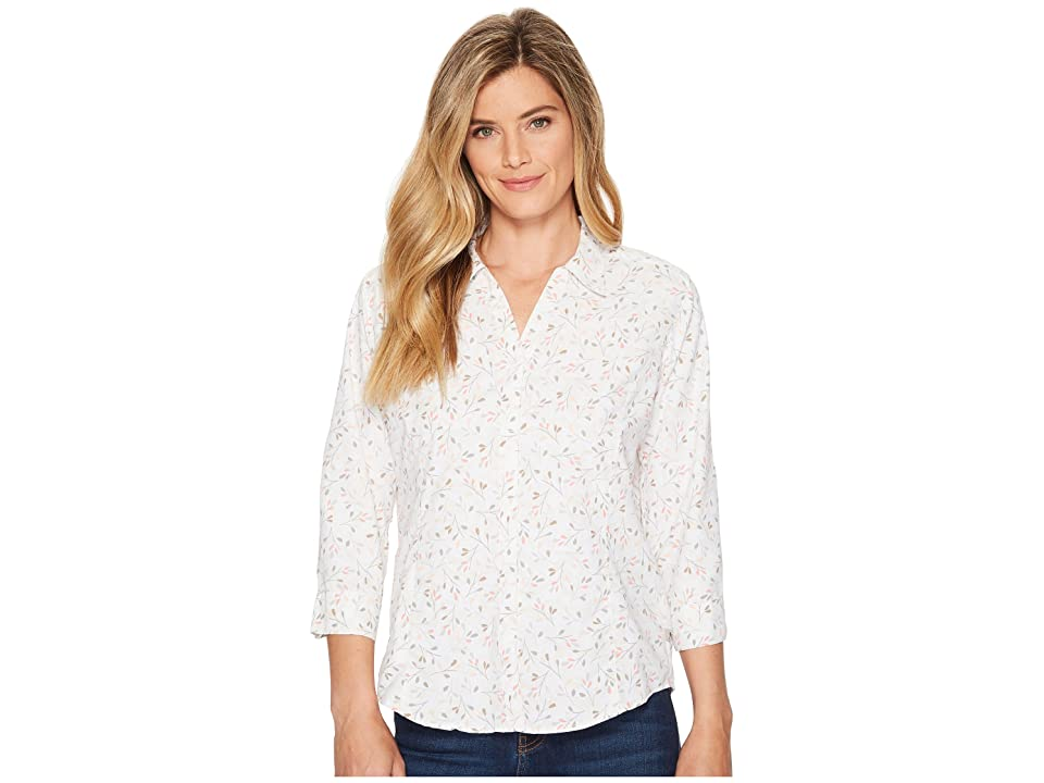 Royal Robbins Expedition Chill Print 3/4 Sleeve Top (White Print) Women