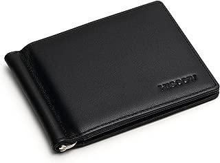 Bifold Money Clip Wallet with 6 Credit Card Slots - Italian Calfskin