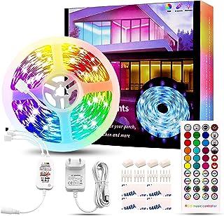 LED Streifen 10M / Rolle RGB, Rilitor LED Band Schlafzimmer SMD 5050 RGB Stripes Sync mit Musik 12V Netzteil & 40 Tasten F...
