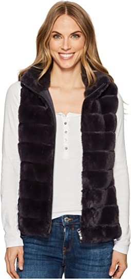 Dylan by True Grit - Soft Faux-Fur Zip Vest