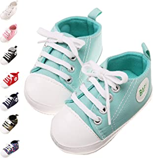 Baby Girls Boy Shoes Newborn Infant Anti-Slip First Walkers Canvas Toddler Kids Sneakers Shoes 0-18 Months