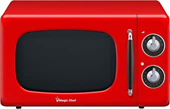 Magic Chef MCD770CR Red 0.7-Cu. Ft. 700W Retro Countertop Microwave Oven, 7 Cu.Ft