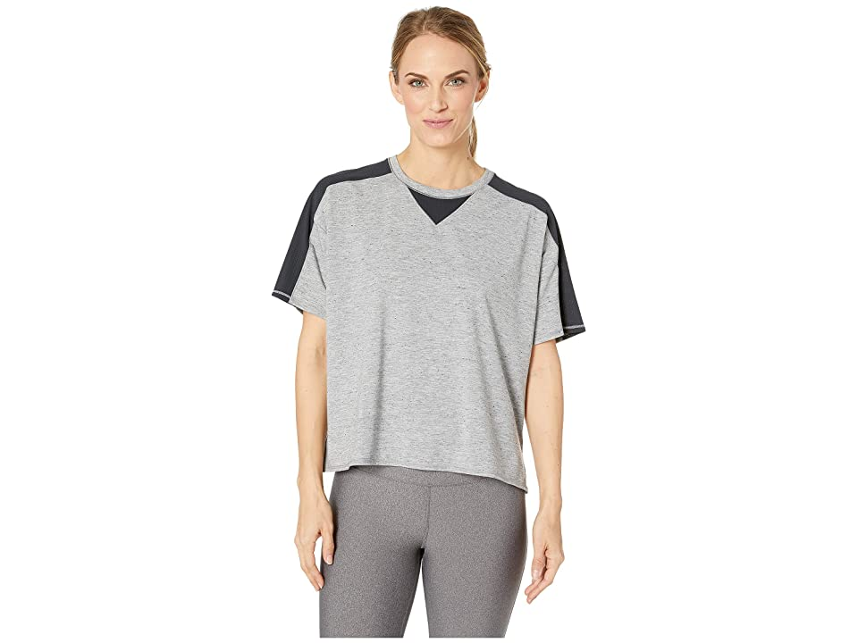 SHAPE Activewear Captivate Tee (Heather Grey/Black) Women