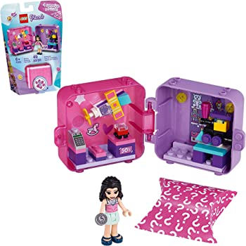 LEGO Friends Emma's Shopping Play Cube 41409 Building Kit, Includes a Collectible Mini-Doll, for Imaginative Play, New 2020 (49 Pieces)