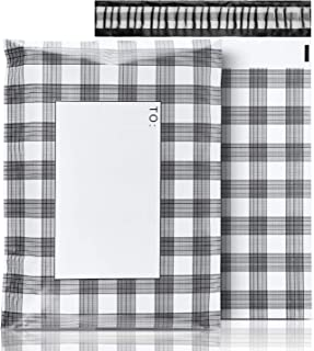 "Poly Mailers,100 Pack 10""x13"" Gingham Plaid Shipping Envelopes Premium Printed 7.09mil Unpadded Shipping Bags -Self Seal & Waterproof"