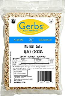 GERBS Instant Oats, 64 ounce Bag, Top 14 Food Allergy Free, Non GMO, Pesticide Free, Keto, Paleo Friendly