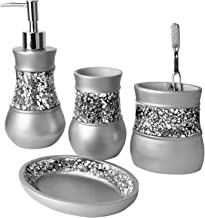 Bathroom Accessories Set - 4 Piece Ensemble Set Includes: Lotion Dispenser, Toothbrush Holder, Tumbler and Soap Dish Bath ...