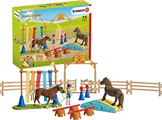 Schleich Pony Agility Training Playset, Multi Colored,42481