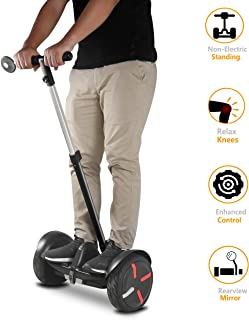 AUBESTKER Handlebar Kickstand Kit for Segway MiniPRO Ninebot S MiniLITE, Relieve Knee Pressure Speed Control Non-Electric Balancing Rearview Mirror, Upgrade Accessories for Safety Segway | Fun Segway