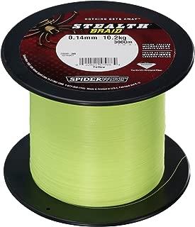 Spiderwire Stealth Braid Superline Fishing Line (Bulk Spools)