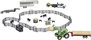 Big Country Toys Ultimate Ranch Set - 1:20 Scale - 53 Piece Ranch Play Set - Collectible Farm Toys