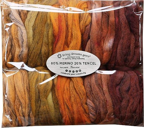Handpainted Wool Roving Hand Dyed Superfine Merino SFM10b