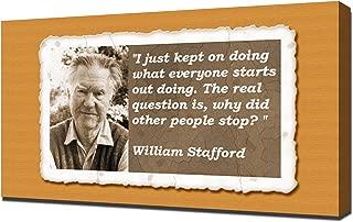 William Stafford Quotes 1 - Canvas Art Print