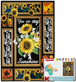 """1000 Pieces Sunflower Jigsaw Puzzles - You are My Sunshine Puzzle for Adults Kids Teens Large Puzzle 75cm x 50cm (29.5"""" x ..."""
