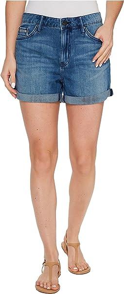 Whisper Weight Boyfriend Shorts in Blue Lagoon