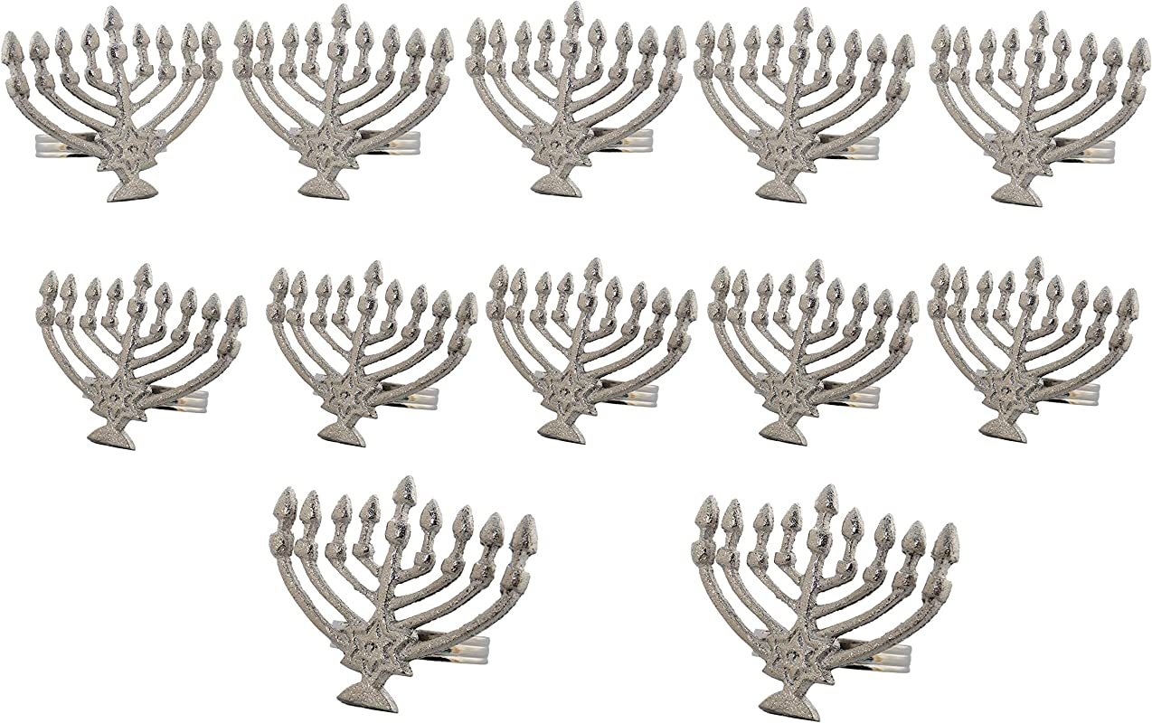 Handcrafted Hanukkah Metal Napkin Rings For Wedding Party Decoration Dinning Table Occasion Everyday Family Gatherings Set Of 12 Silver A Beautiful Emphasize To Your Dining Table D Cor
