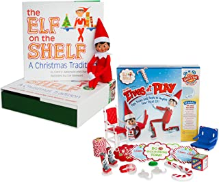 The Elf on the Shelf: A Christmas Tradition - Brown Eyed North Pole Elf Girl with Elves at Play Kit