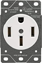 ENERLITES 50 Amp Range Receptacle Outlet for RV and Electric Vehicles, NEMA 14-50R, 3- Pole, 4 Wire (8, 6, 4 AWG Copper Only), 125/250V, 66500-W, White