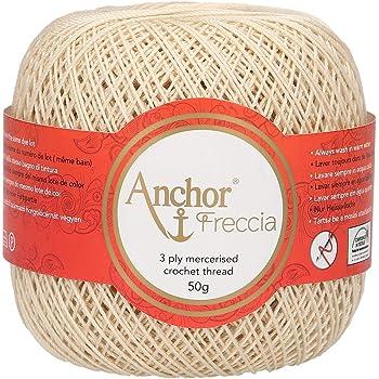 ANCHOR Hilo de ganchillo, algodón, 00387 Beige: Amazon.es: Hogar