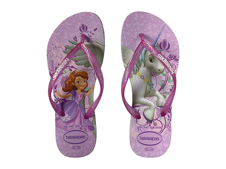 Havaianas Kids Slim Princess Sofia Flip Flops (Toddler/Little Kid/Big Kid) (Purple/Lavender) Girls Shoes